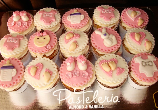 Cupcakes Para Baby Shower, Baby Shower Para Nina, Cupcakes Para Baby Shower  De Nina